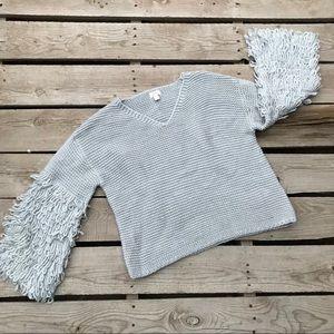 Stitch fix Pixley Gray detail wool pull over M
